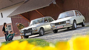 Peugeot 504 TI, Renault 16 TX, Frontansicht