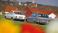 Peugeot 504 TI, Renault 16 TX, Heckansicht