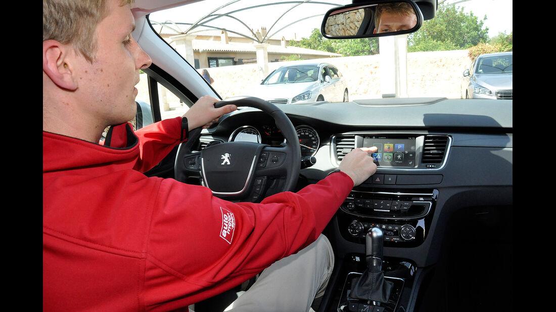 Peugeot 508, Facelift, Cockpit, Touchscreen