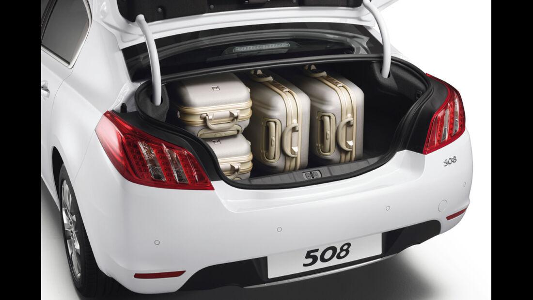Peugeot 508 Limousine, Kofferraum