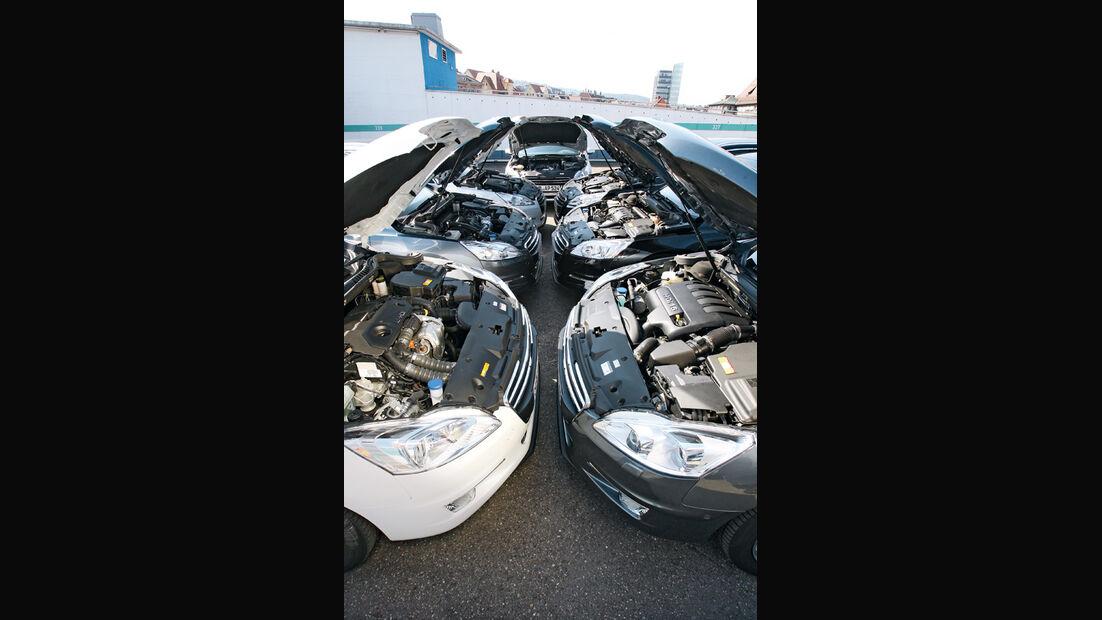 Peugeot 508, Motoren, Motorhauben