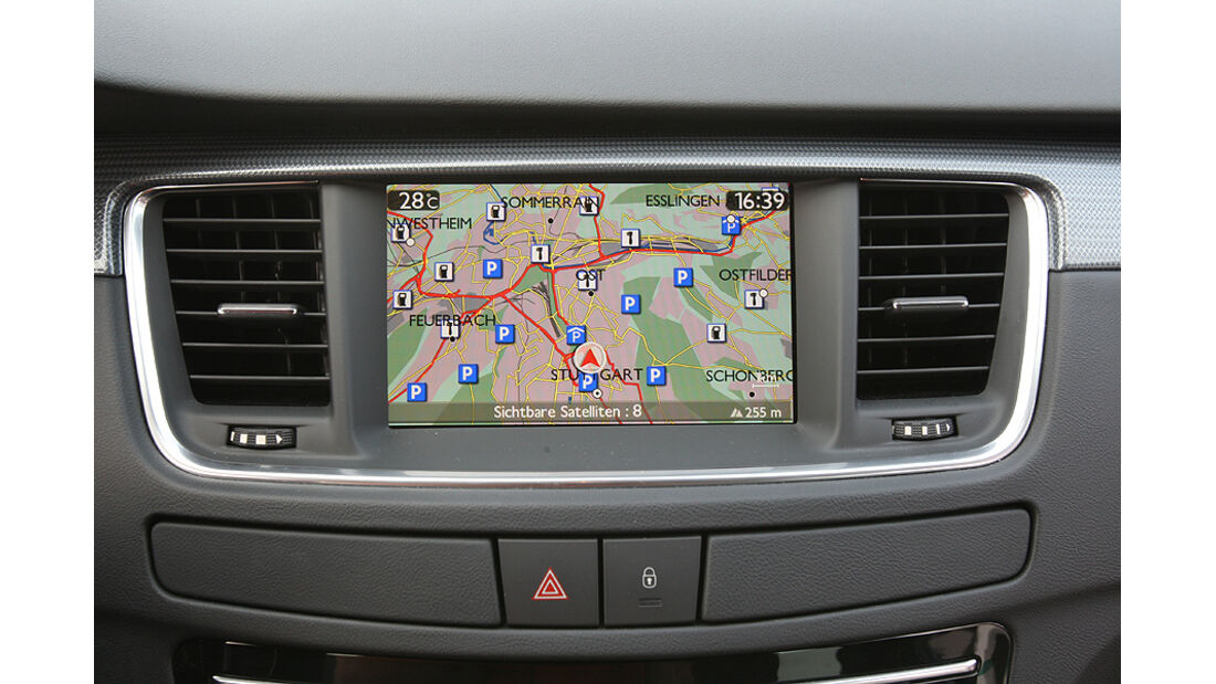 Peugeot 508, Navigation