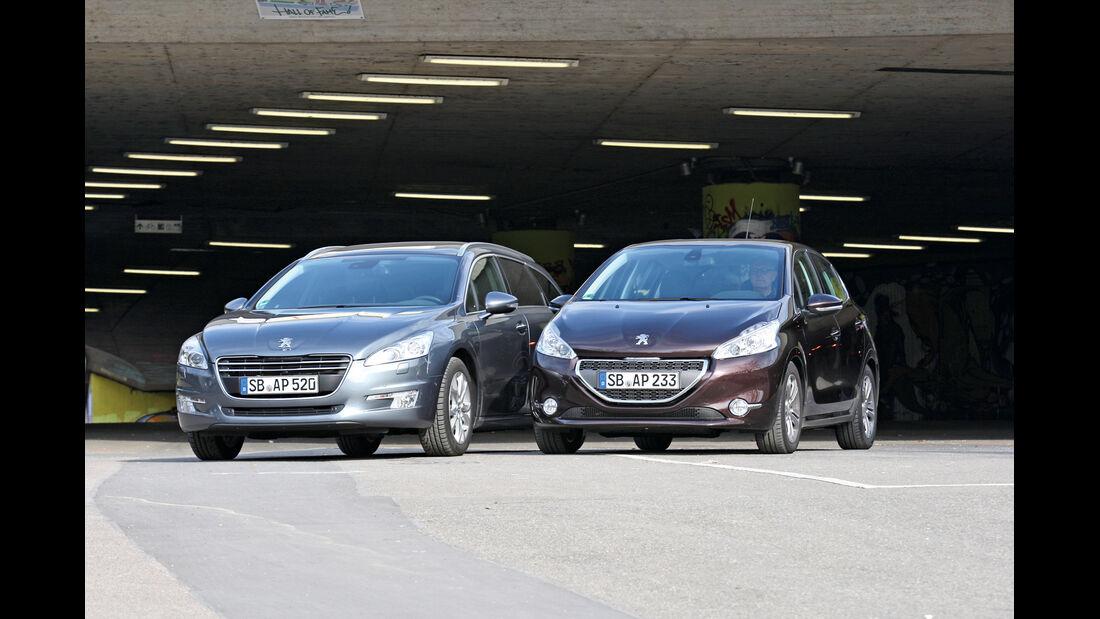 Peugeot 508, Peugeot 208, Frontansicht