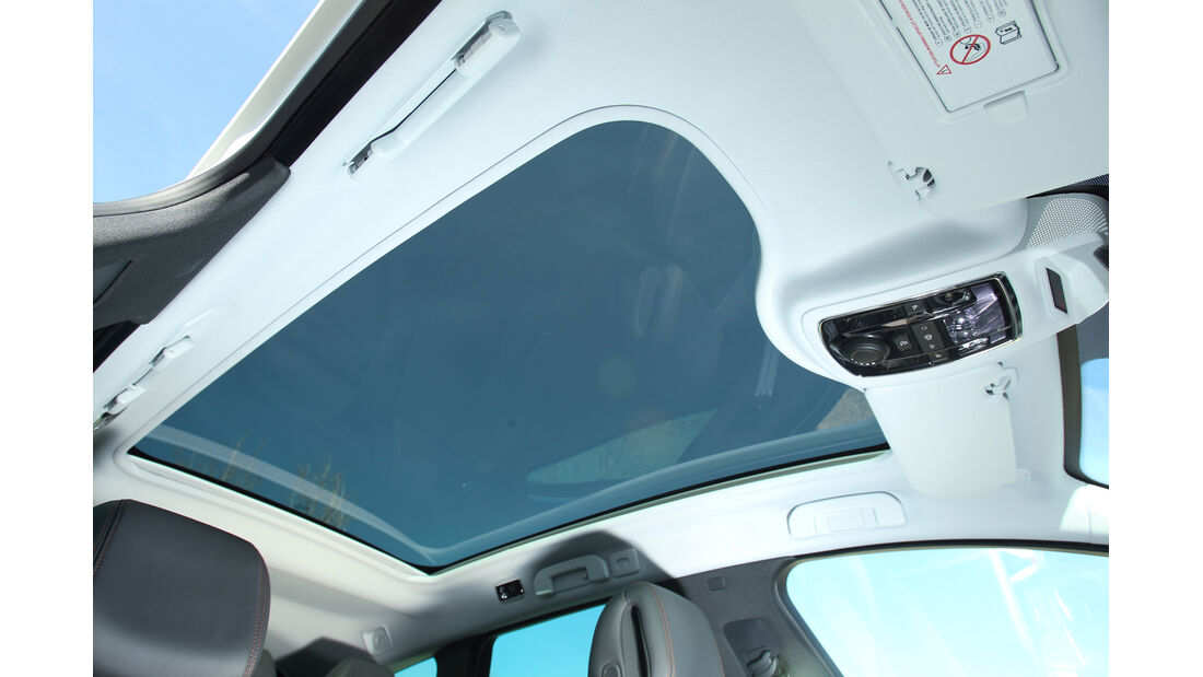 Peugeot 508 RXH, Dachfenster, Fahrerhimmel