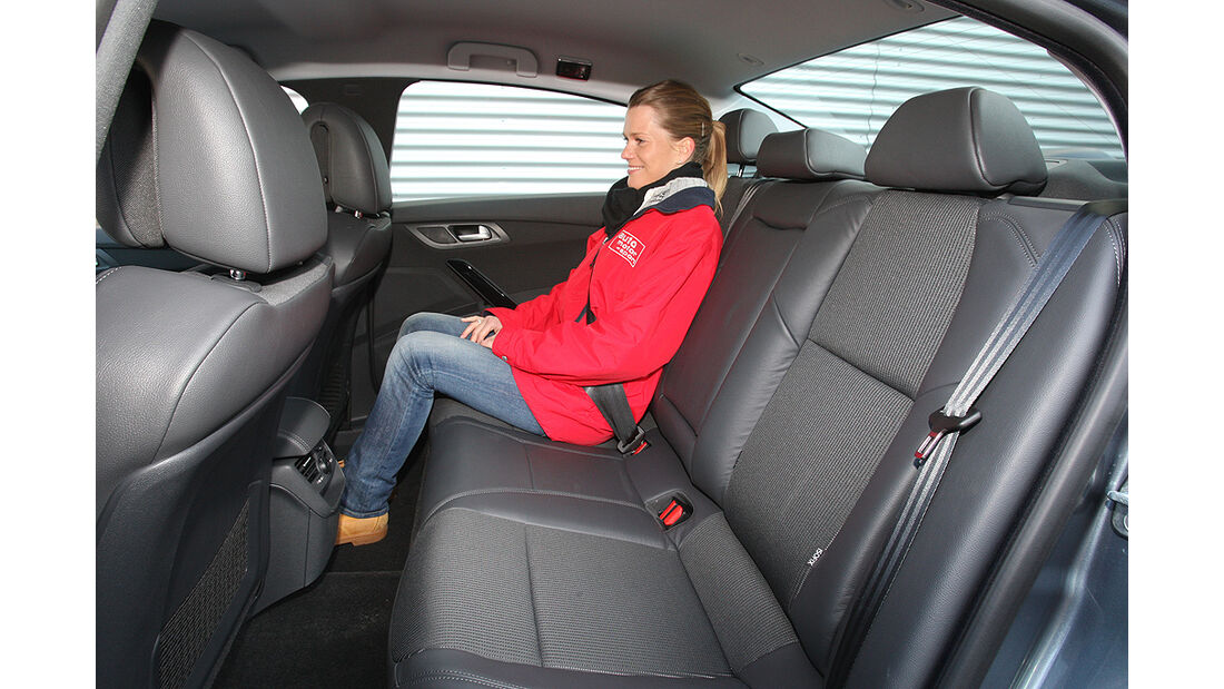 Peugeot 508, Rücksitze, Rückbank