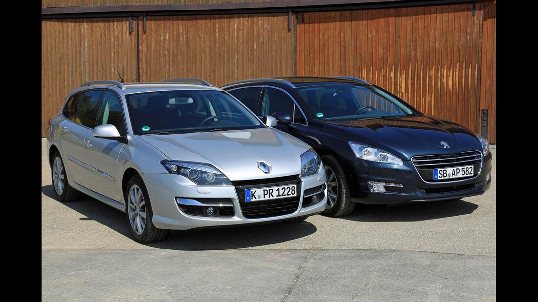Peugeot 508 SW HDi 160, Renault Laguna Grandtour dCi 150, Frontansicht