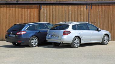 Peugeot 508 SW HDi 160, Renault Laguna Grandtour dCi 150, Heckansicht