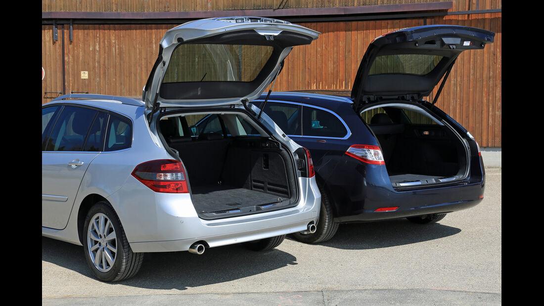Peugeot 508 SW HDi 160, Renault Laguna Grandtour dCi 150, Heckklappe