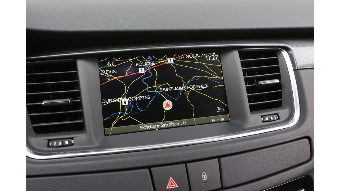 Peugeot 508 SW HDi 180, Navi, Bildschirm