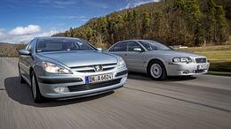 Peugeot 607 2.2 16V, Volvo S80 D5, Exterieur