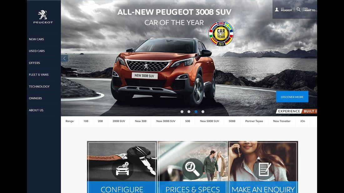 Peugeot Autokauf Online Großbritannien