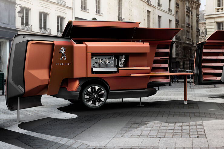 peugeot baut foodtruck bistrot du lion essen auf r dern auto motor und sport. Black Bedroom Furniture Sets. Home Design Ideas