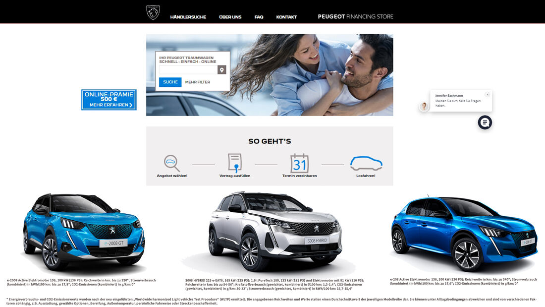 Peugeot Financial Store