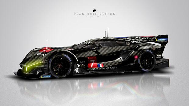 Peugeot Le Mans Hypercar Concept - Sean Bull Design