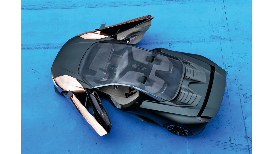Peugeot Onyx, Draufsicht, von oben