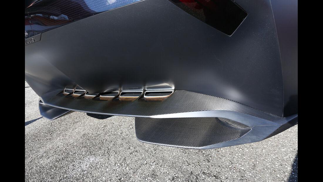 Peugeot Onyx, Heck, Windabweiser, Unterboden