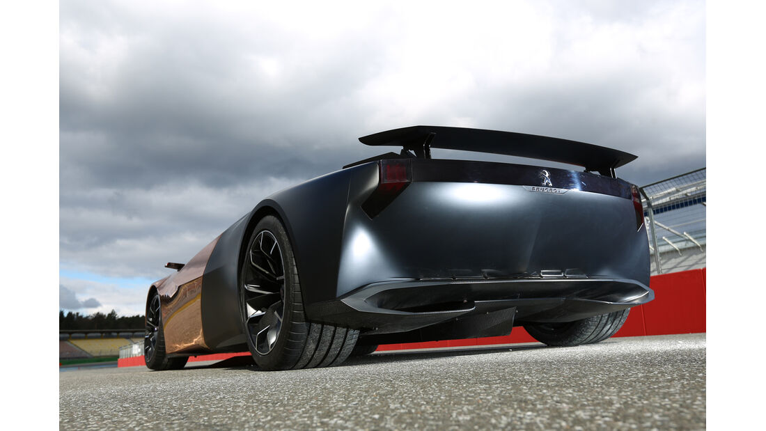 Peugeot Onyx, Heckansicht, Heckspoiler