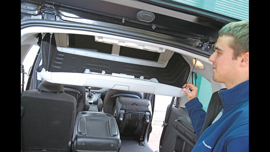 Peugeot Partner Tepee HDi 115, Stauraum