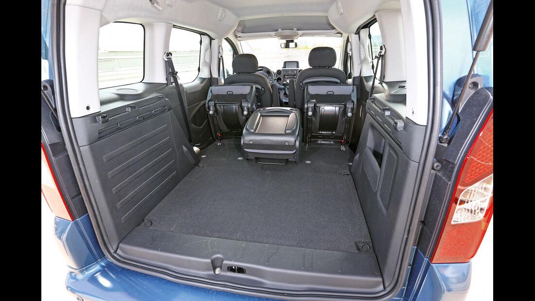 Peugeot Partner VTI 95, Kofferraum, Ladefläche