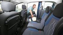 Peugeot Partner VTI 95, Rücksitz