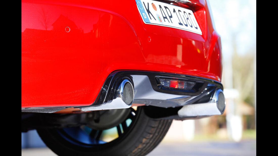 Peugeot RCZ R, Auspuff, Endrohr
