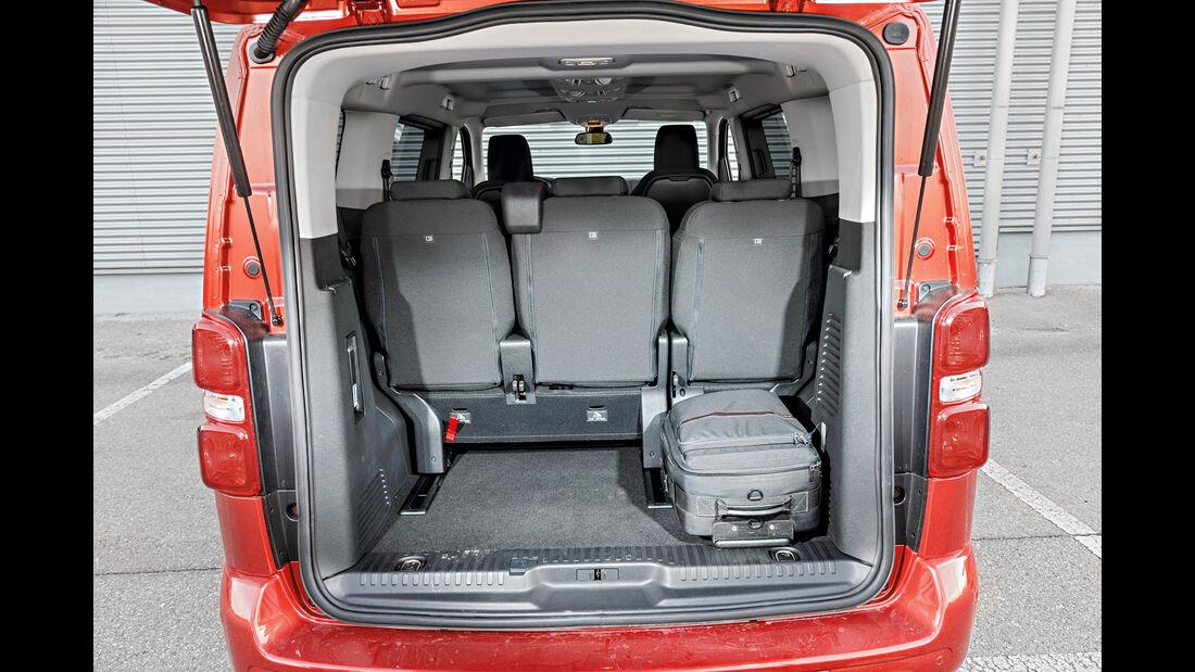 Peugeot Traveller HDi 150 L2, Kofferraum