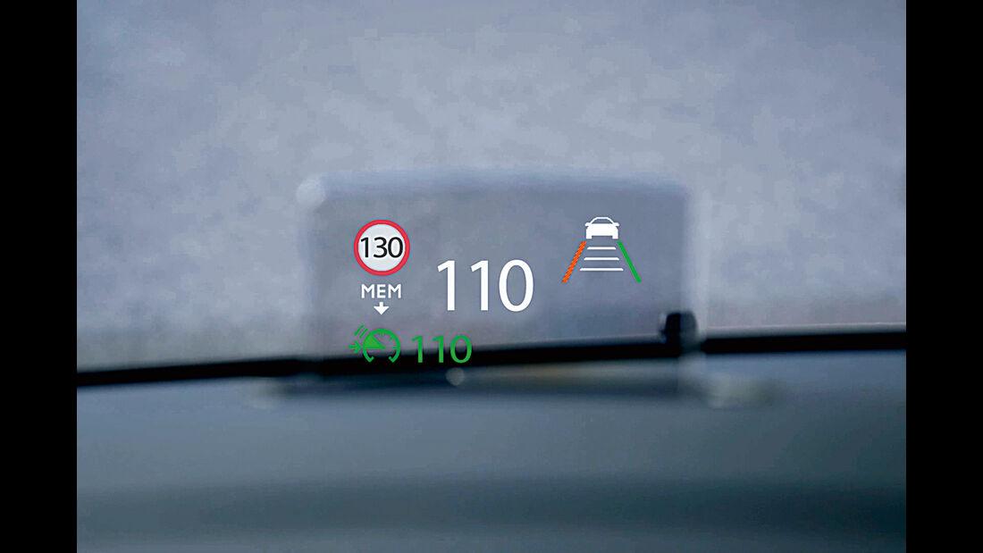 Peugeot Traveller Head up Display