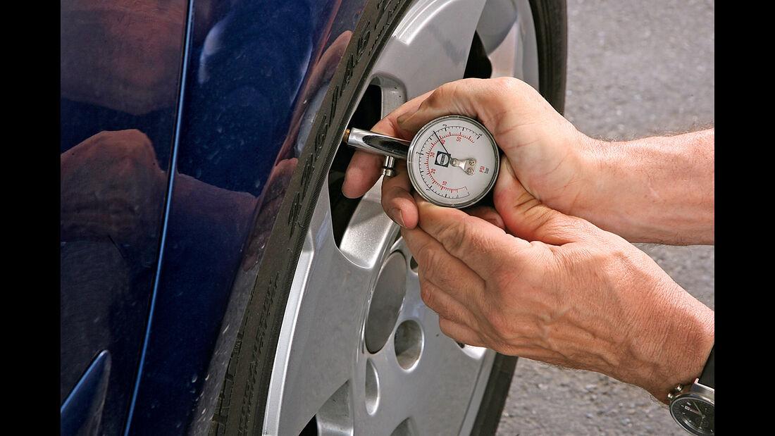 Peugeot, Werkstättentest, Reifenfülldruck