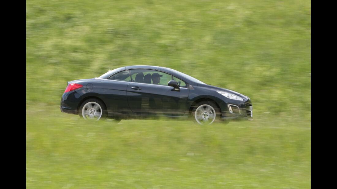 Peugot 308 CC 155 THP, Seitenansicht, Cabrio, Verdeck zu