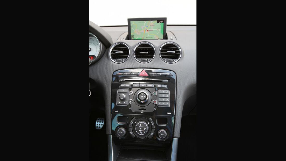 Peugot 308 SW 155 THP Allure, Bildschirm, Mittelkonsole