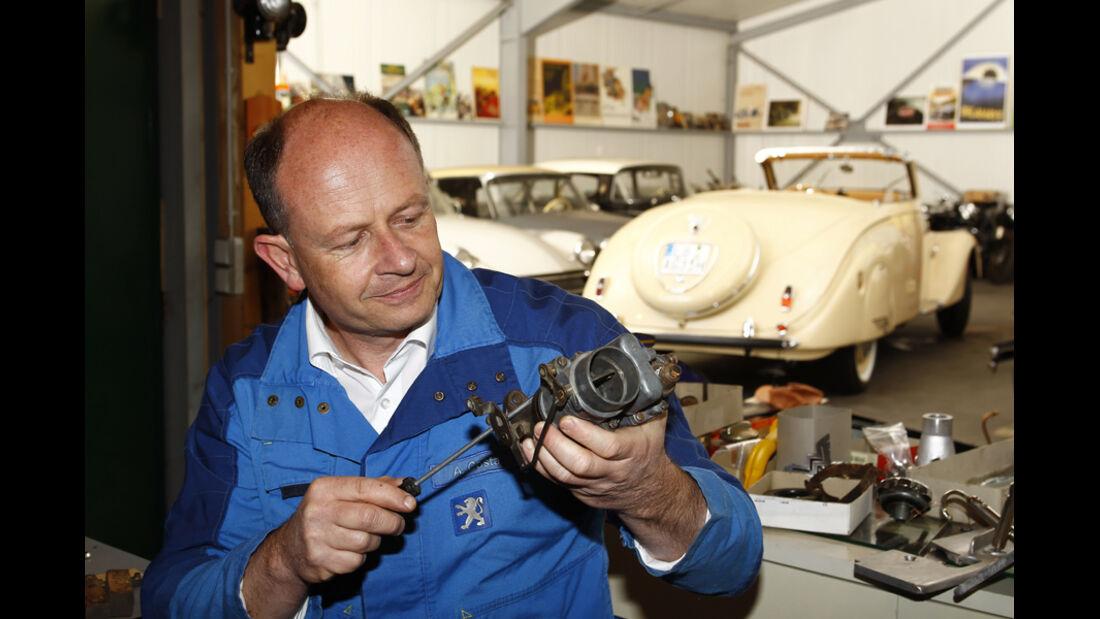 Peugot 402 Eclipse, Andreas Golz, Werkstatt
