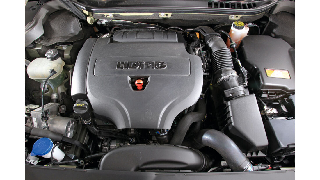 Peugot 508 SW HDi 165, Motorraum, Motor