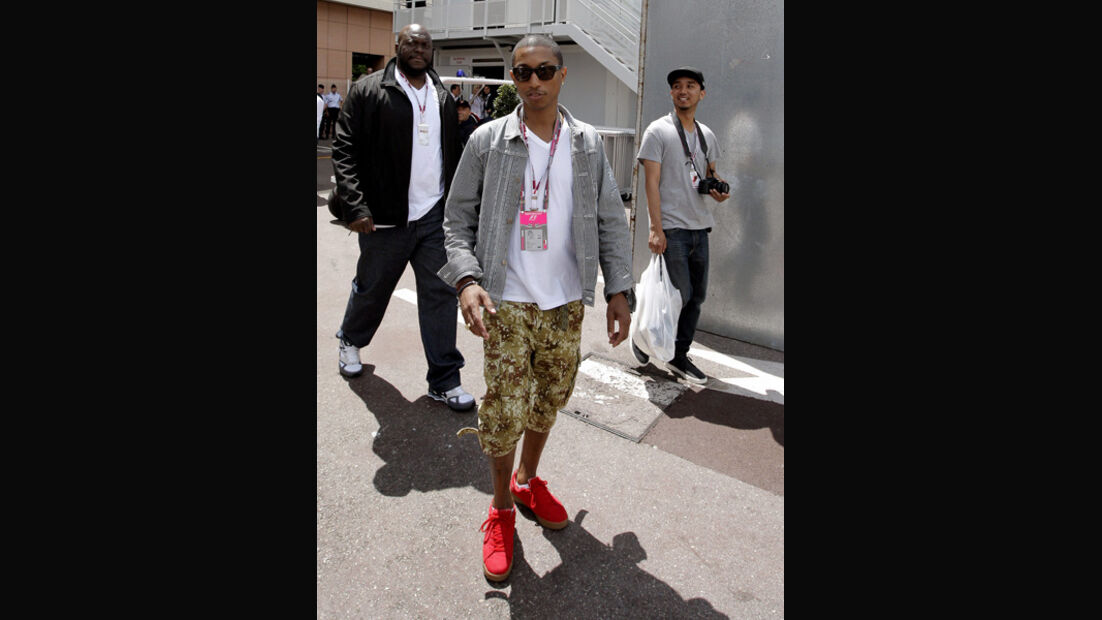 Pharrell Williams beim GP Monaco