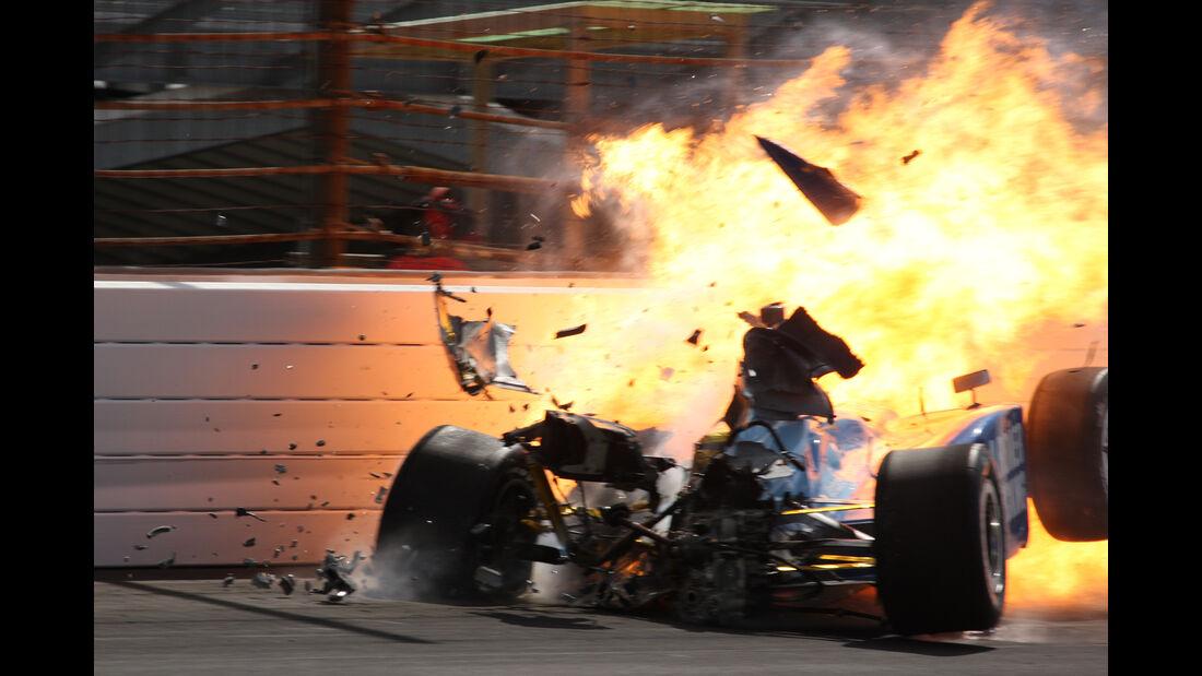Phil Giebler - IndyCar-Crash