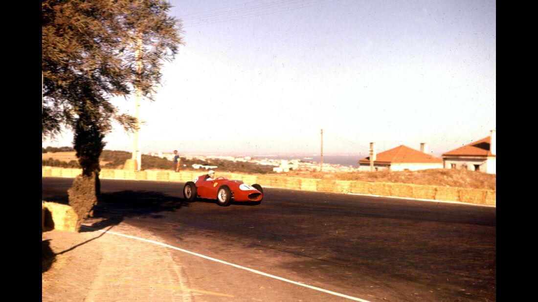 Phil Hill - Ferrari Dino 246 - Monsanto Park 1959 - Portugal - Rennstrecke