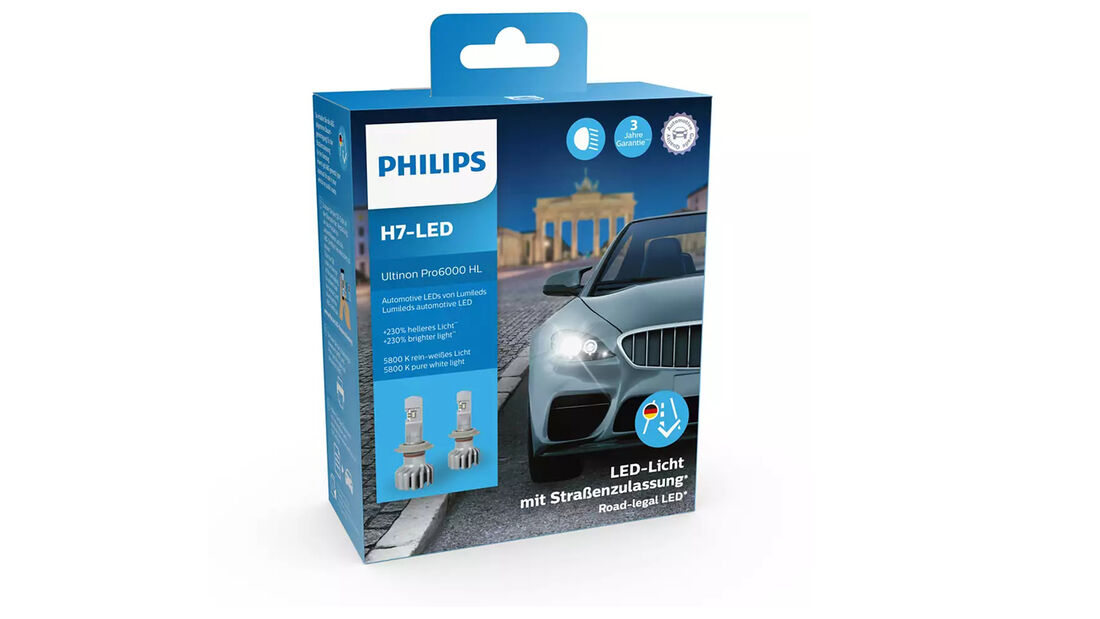 Philips Ultinon Pro6000 LED-H7 Birne Leuchtmittel Licht