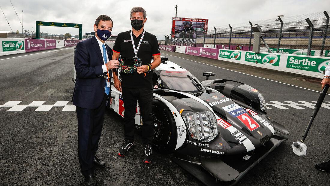 Pierre Fillon - ACO - Fritz Enzinger - Porsche - 24h-Rennen - Le Mans 2020