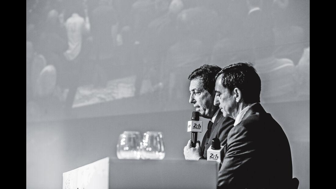 Pierre Fillon und WM-Boss Gérard Neve