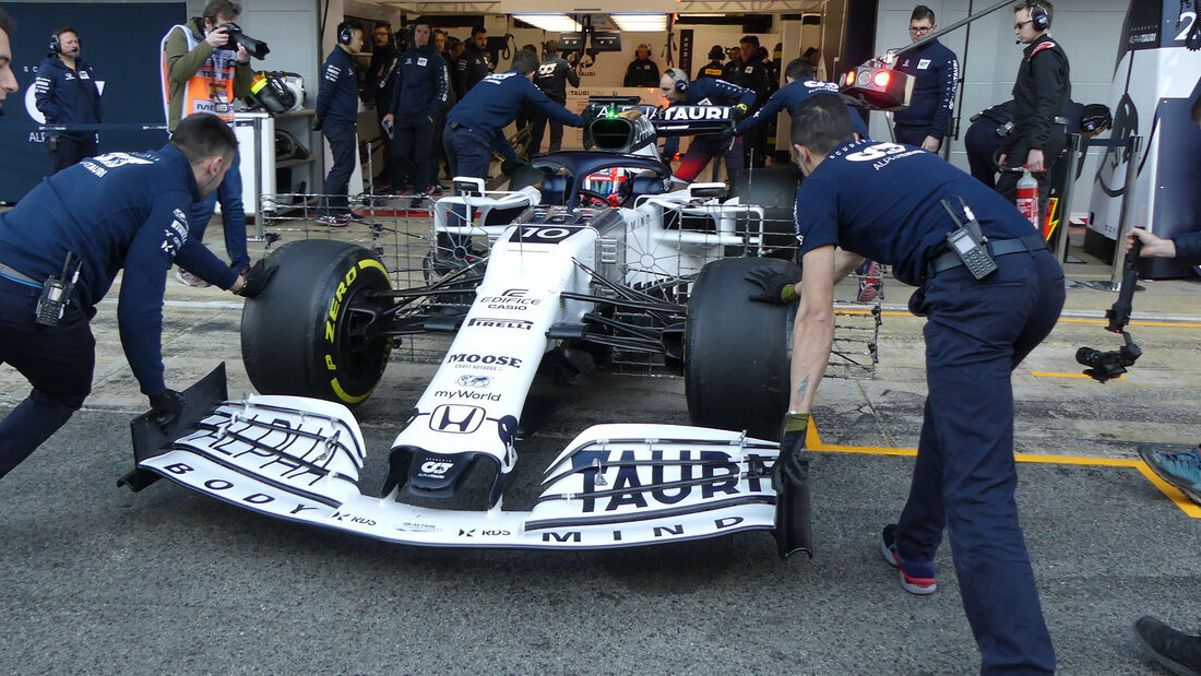 Pierre Gasly - Alpha Tauri - F1-Test - Barcelona - 19. Februar 2020