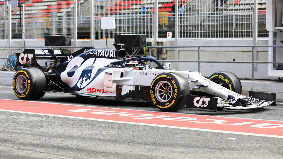 Pierre Gasly - Alpha Tauri - F1-Test - Barcelona - 27. Februar 2020