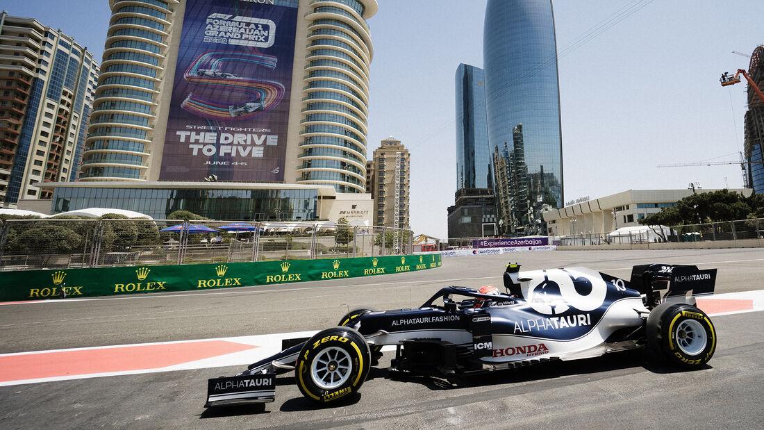 Pierre Gasly - Alpha Tauri - Formel 1 - GP Aserbaidschan - Baku - Freitag - 4.6.2021