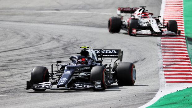 Pierre Gasly - Alpha Tauri - Formel 1 - GP Spanien 2021 - Barcelona - Rennen