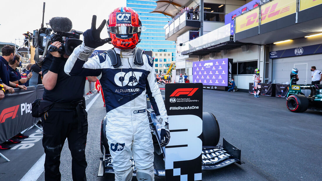 Pierre Gasly - Alpha Tauri - GP Aserbaidschan 2021 - Baku - Rennen