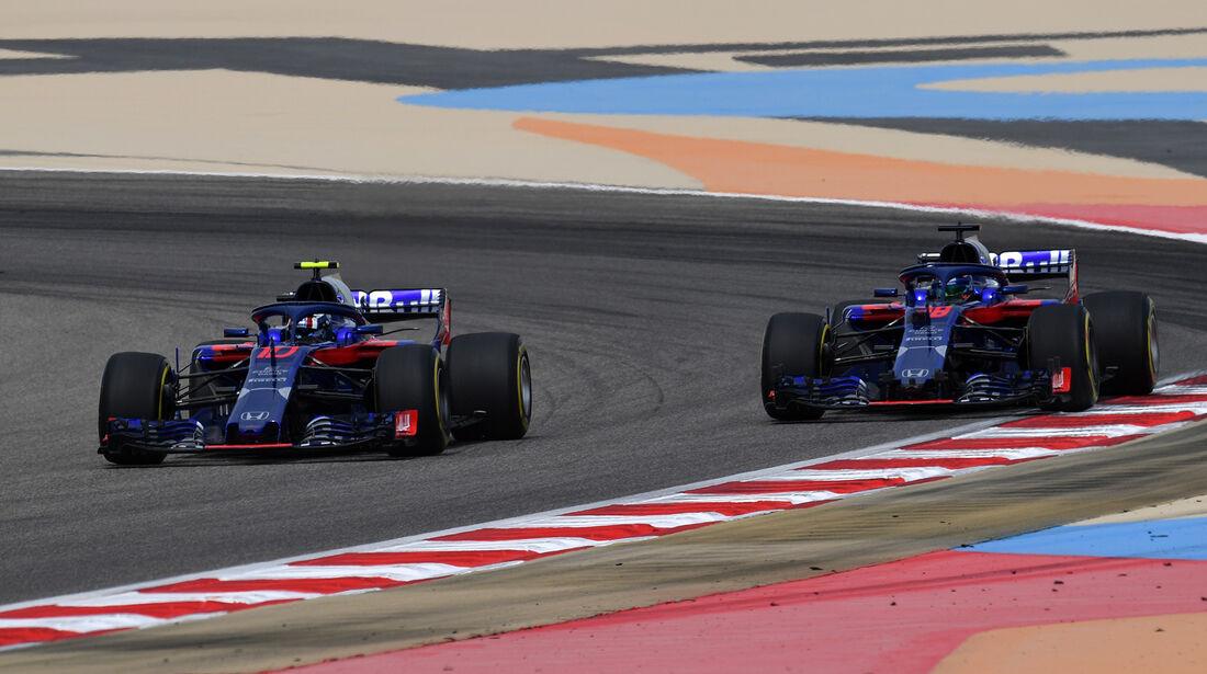 Pierre Gasly & Brendon Hartley - Toro Rosso - Formel 1 - GP Bahrain - Training - 6. April 2018