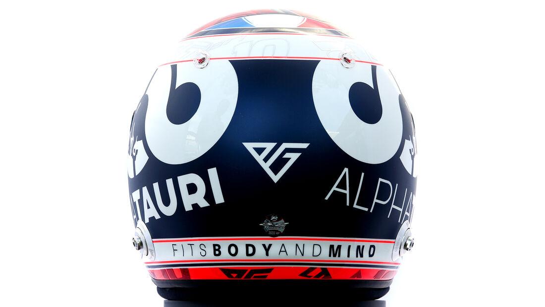 Pierre Gasly - Porträt & Helm - Formel 1 - 2020