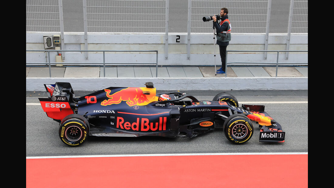Pierre Gasly - Red Bull - Barcelona - F1-Test - 19. Februar 2019