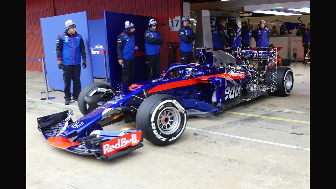 Pierre Gasly - Toro Rosso - Ferrari - F1-Test - Barcelona - Tag 2 - 27. Februar 2018