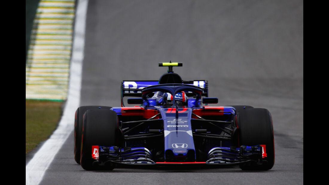 Pierre Gasly - Toro Rosso - GP Brasilien - Interlagos - Formel 1 - Samstag - 10.11.2018