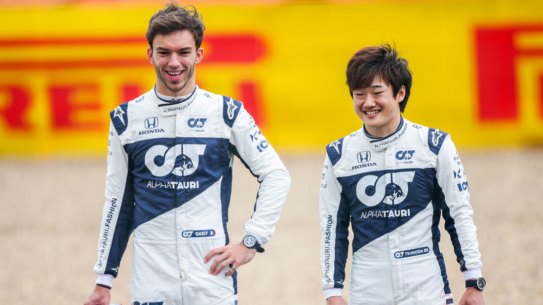 Pierre Gasly & Yuki Tsunoda - GP England 2021