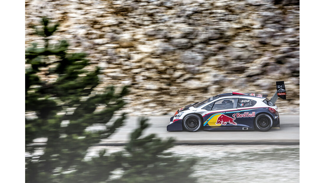Pikes Peak, Peugeot 208, Seitenansicht
